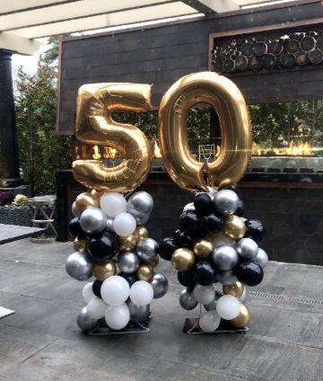 decoracion con globos para hombres de 50