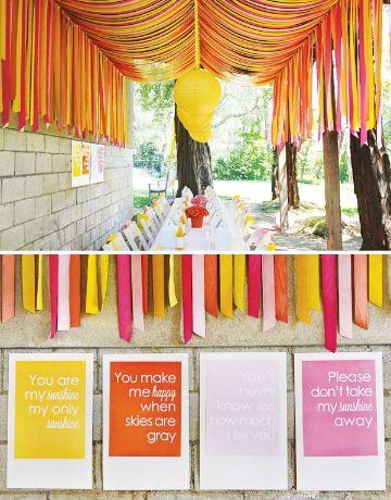decoracion de fiestas con papel crepe