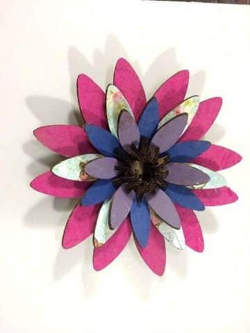 decoraciones con flores de cartulina para niñas