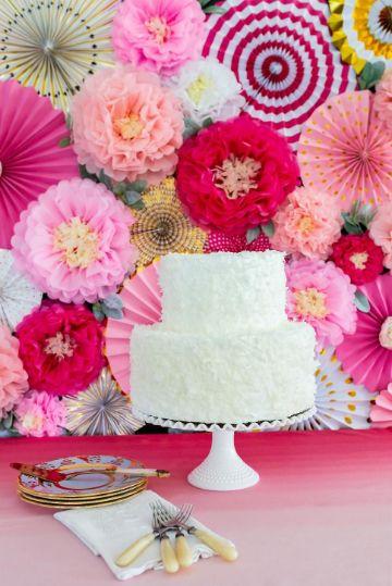 decoraciones con flores de papel sencillas