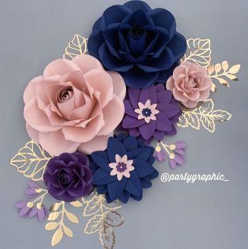 rosas de cartulina para decorar en quinceaños