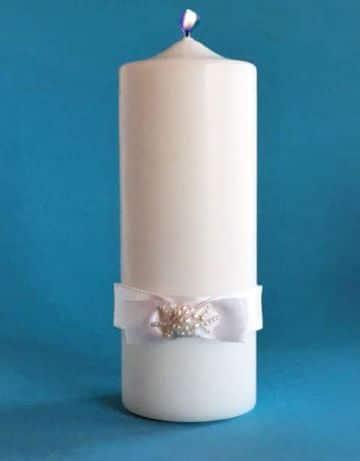 velas decoradas para confirmacion sencillas
