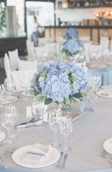 4 ideas para flores azules para centros de mesa