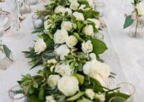 4 ideas para centros de mesa de rosas blancas