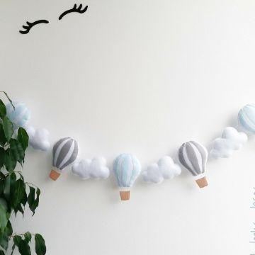 como hacer guirnaldas de globos aerostáticos