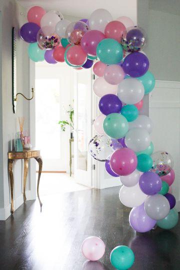 ideas para guirnaldas de globos para cumpleaños