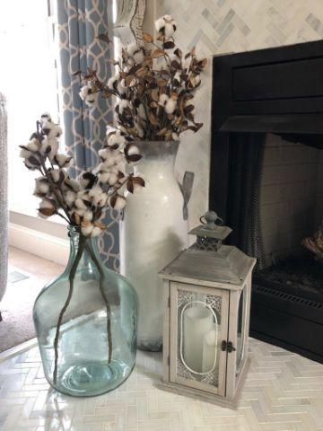 ideas para ramas de algodon para decorar