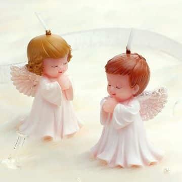 ideas para velas en forma de angel
