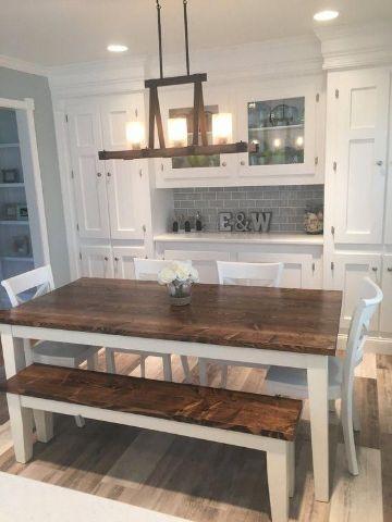mesas de campo de madera para el comedor