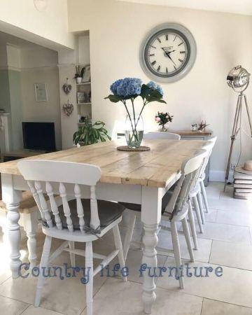 mesas de campo de madera para la casa