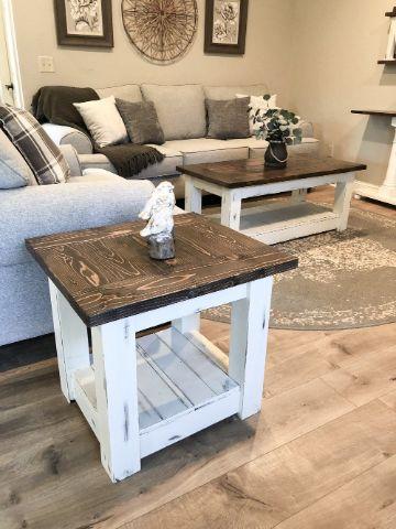 mesas de campo de madera para la sala