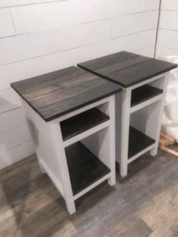 mesas de campo de madera sencillas