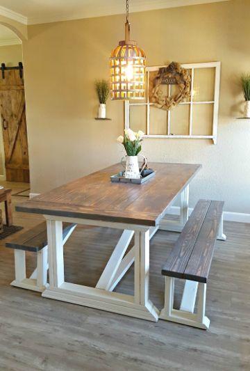 mesas rusticas de campo en casa