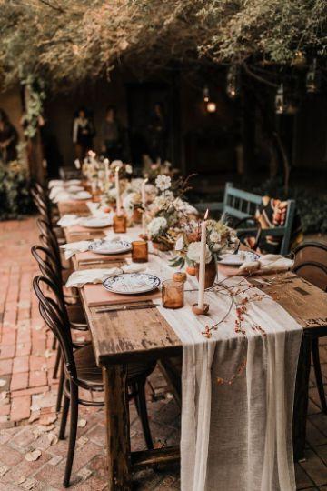 mesas rusticas de campo para fiestas
