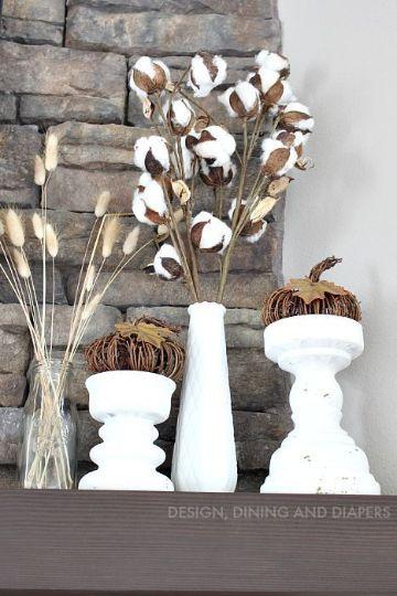 ramas de algodon para decorar para el hogar