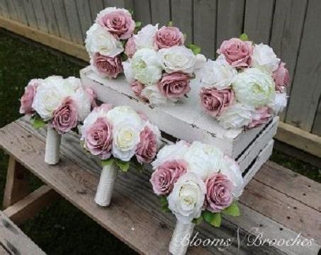 ramos de rosas para niñas de cortejo