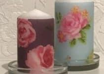 4 ideas para tener unas velas decoradas con servilletas