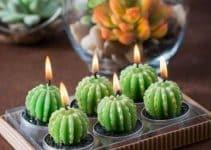 4 ideas para unas hermosas velas en forma de cactus
