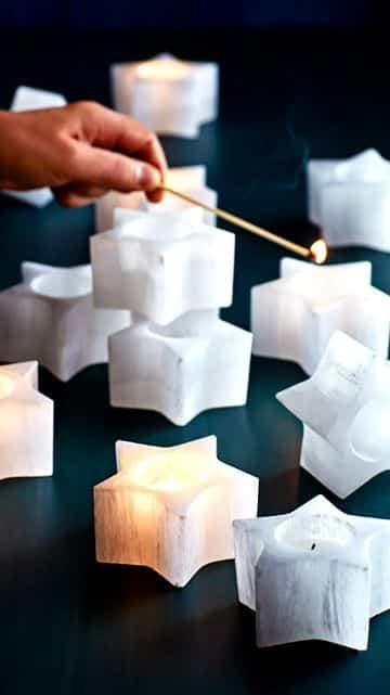 velas en forma de estrella para decorar