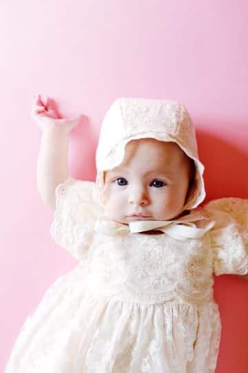 batas de bautizo para bebes niñas