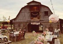 4 fotos de casamiento en el campo decoracion sencilla