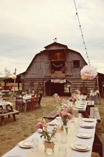 casamiento en el campo decoracion de mesas