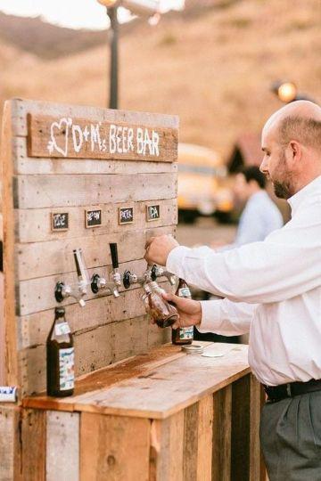 casamiento en el campo decoracion para bebidas