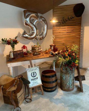 decoracion campestre para cumpleaños en casa