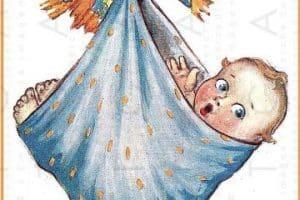 4 ideas de dibujos de cigueñas para bautizos