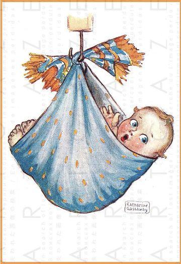 dibujos de cigueñas para bautizos clasicos