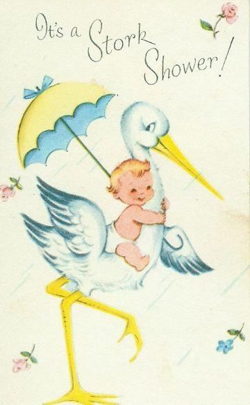dibujos de cigueñas para bautizos para decorar