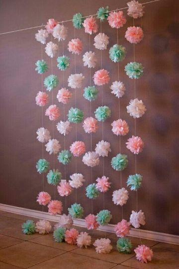 flores para bautizo de papel hechas en casa