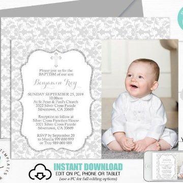 fondos de bautizo para niño con foto
