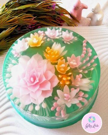 gelatinas decoradas para bautizos de niñas