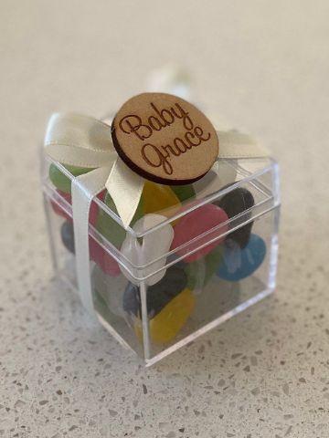 gelatinas decoradas para bautizos en casa