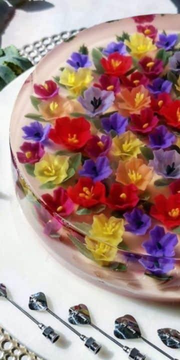 ideas de gelatinas decoradas para bautizos