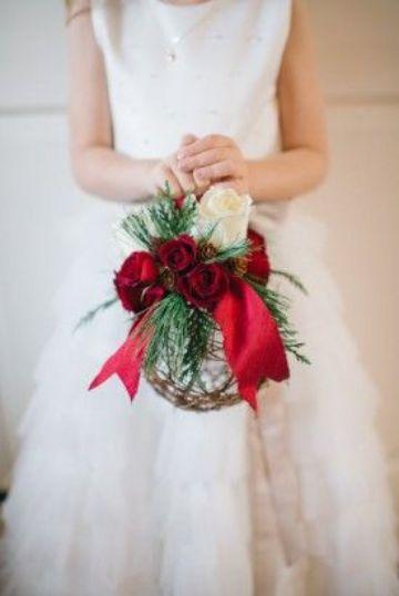 ramos de flores para niña en bodas