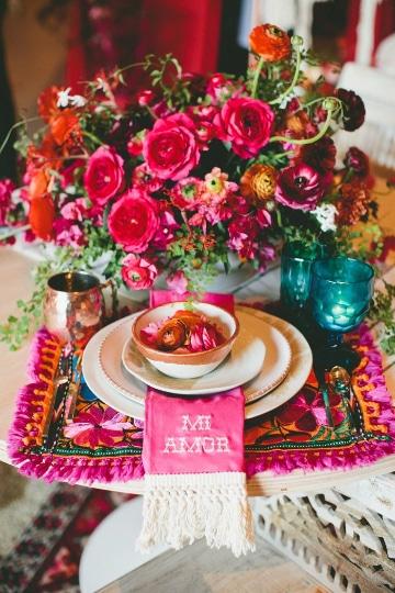 arreglos de mesa mexicanos ideas