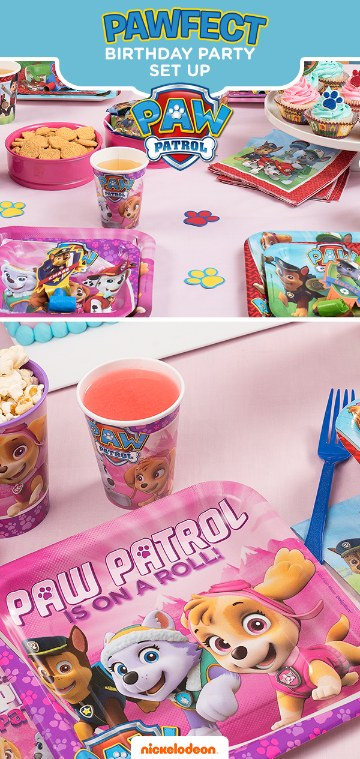 arreglos de mesa paw patrol para niñas
