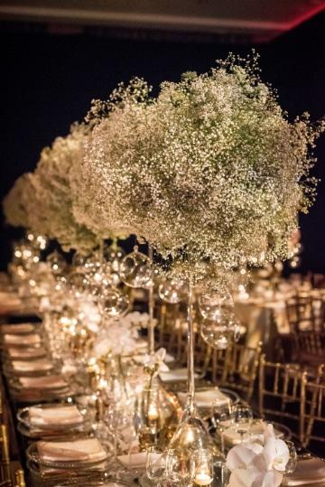 centro de mesa de nubes para bodas