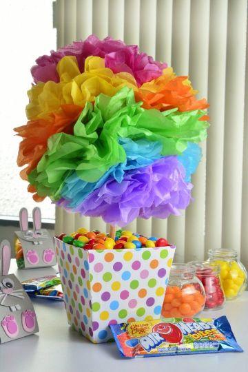 centro de mesa para un añito colorido