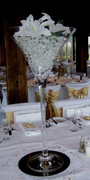 centros de mesa con bolitas de gel para bodas