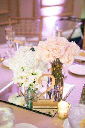 espejos para centros de mesa en bodas