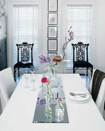 espejos para centros de mesa en casa