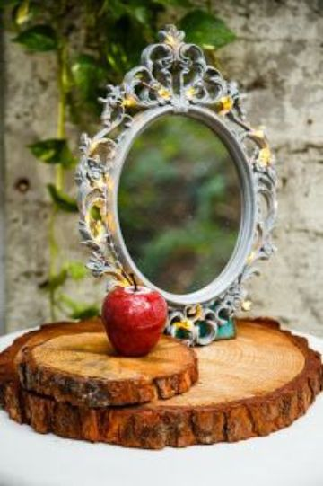 espejos para centros de mesa en quinceaños