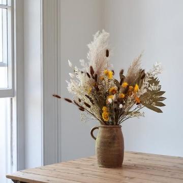 ideas para centros de flores secas para salon