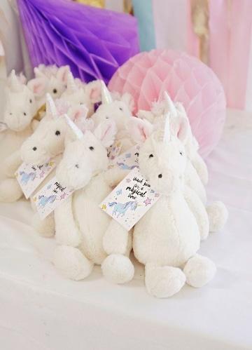 adornos con globos de unicornio para fiestas