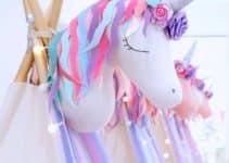 4 hermosos adornos con globos de unicornio para fiestas