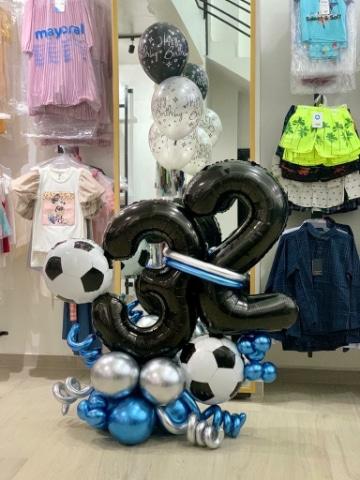 arreglos de globos de numeros para adultos