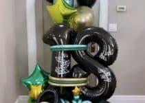 4 hermosos arreglos de globos de numeros para fiestas